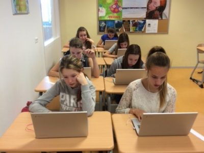 's Gravendreef College Pupils working hard on The Big Challenge