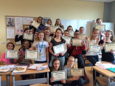's Gravendreef College, Den Haag Class 1 is proud of their awards!