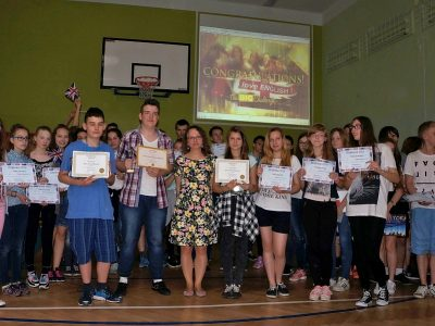 The Big Challenge Award Ceremony in Publiczne Gimnazjum nr 24 im. gen. J. Wybickiego w Łodzi. We are the best!