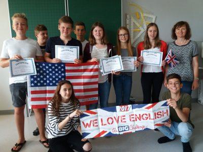 St. Marienkirchen TNMS  Die 4A freut sich über die tollen Platzierungen!
