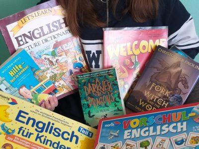 Willy-Brandt-RS Königsbach Für mich finde ich das Englisch eine sehr gute Sprache ist denn man kann die überall einsetzen in verschiedenen Ländern. Englische Bücher gibt's nie genug! -Mara Taut-