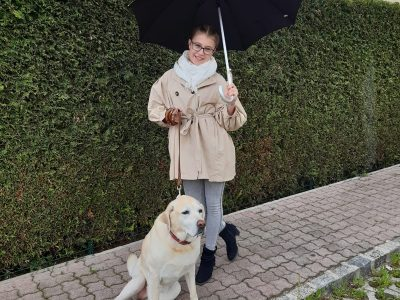 Baden bei Wien / BG/BRG Biondekgasse I have to go with my lovely labrador -  even in the typically english rain.