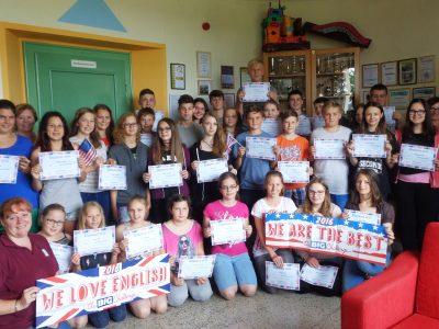 Die erfolgreichen TeilnehmerInnen der NMS in Drosendorf. Wir sind stolz auf euch.