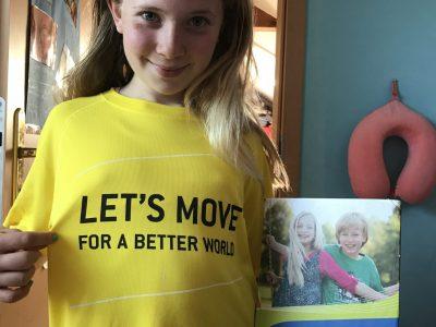 Ich bin Hannah Breuer, ich bin geboren und wohne in der schönen Stadt Frankfurt am Main. Meine Schule ist die Freiherr-vom-Stein Schule.  Die englische Sprache bewegt die Welt. Look at my Shirt (Let's move for a better world, lets move for the big challenge)