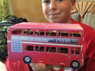 An original London Landmarks double decker bus.  Kössen NMS