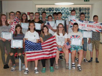 TNMS ST. Marienkirchen Die 4.Klasse freut sich über ihre tollen Ergebnisse