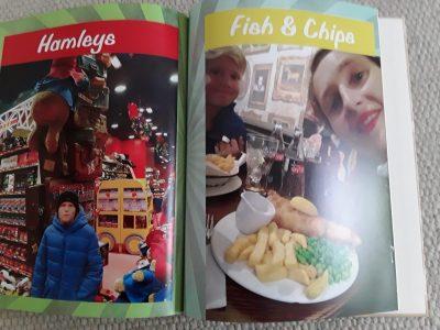 Marc Strauss aus Wangen i. A. von dem Rupert Ness Gymnasium war in London und hat aus seinem Fotoalbum Bilder von Hamleys  und von einer traditionellen Kneipe, in der ich legendäres Fish und Chips gegessen hab.