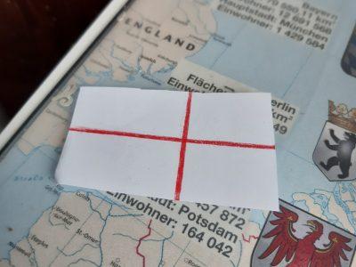 England Flagge ist bei England