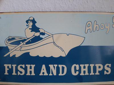 Duisburg Abtei-Gymnasium Ein Fisch and Chips Bild aus den berühmten Walsumer - Hof