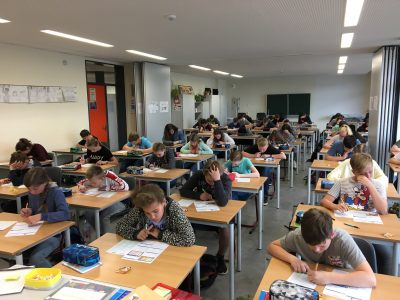 """Hello,  here is the first photo of """"Oberschule Neumark """" in Neumark. The students did the challenge as best as they could. Thanks for your perfect preparation.  Yours Ms Brauße"""