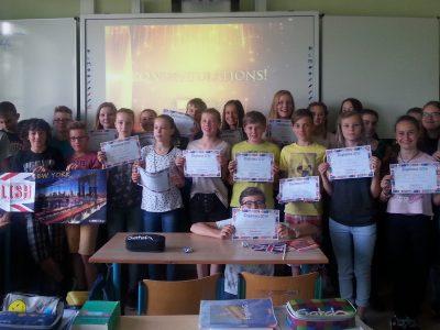 NIEDERSORBISCHES GYMNASIUM COTTBUS  Alle Schüler der Klasse 7A nahmen am Wettbewerb teil und hatten viel Spaß.