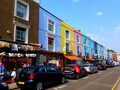 The Portobello road in London.