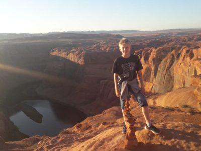 Auf diesem Bild gehe ich am Horseshoe Bend in den USA wandern.  (LÜDINGHAUSEN, ST. ATONIUS GYMNASIUM)