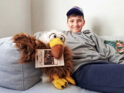 Berlin; Georg-Büchner Gymnasium;    My pet for today: American BALD EAGLE ! has eaten my Oliver Twist book.  It´s been my 4th time at big challenge, very cool challenge! With a new camera, I could take pictures of bike-stunts  on the bike trail I like to ride with friends. stay safe!