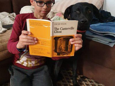 """Stadt: Fürth  Schule: Helene-Lange-Gymnasium  Ich lese gerne englische Bücher. Hier zum Beispiel """"The Canterville Ghost"""" von Oscar Wilde"""