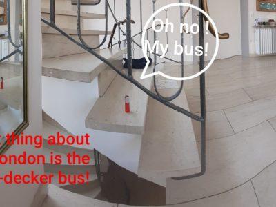 """Bild von Anaelle Nierhoff, Klasse 5: """"The London Bus Tour"""". Max-Ernst-Gymnasium Brühl"""