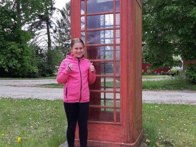 Gifhorn. Humbold Gymnasium.  Ein wenig Urlaubsfeeling in der Corona Zeit - Bei mir im Dorf steht eine englische Telefonzelle :-)
