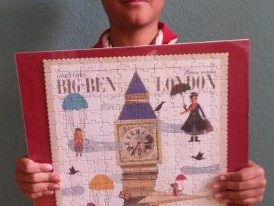 Wernigerode, Jonathan Fechner (11) Ein Puzzle der Stadt London und eine echt engischer Hut.