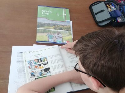 Datteln 45711, Comenius Gymnasium, The big challenge was very well done. In the picture I'm doing my English homework.