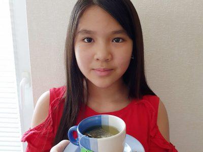 """Stadt: Neuss Name der Schule: Gymnasium Norf Name der Schülerin: Thi Anh Tien Do Kommentar: """"Let´s have tea together"""""""