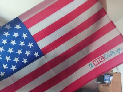 Angelaschule Osnabrueck   diese USA Flagge habe ich letztes Jahr bei TheBigChallenge gewonnen
