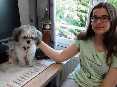 Erfurt, Königin Luise Gymnasium  Homeschoolin mit meinem Hund Odin;)