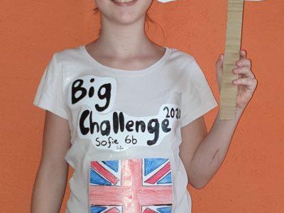 Realschule Stühlingen /Ich bin Sofie und liebe England. Das T - Shirt habe ich selber gemacht.