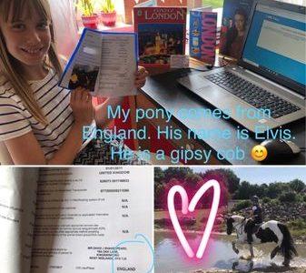 "Best regards! Mina Sophie Hildebrandt from Espelkamp! I go to school at Söderblom-Gymnasium. It was a great big challenge. Thanks. Citytour London & my Gipsy cob pony ""Elvis"" with Country ob Birth United Kingdom ❤"