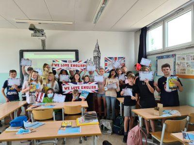 Teilnehmer der 6. Klassen der Grundschule Am Botanischen Garten in Frankfurt (Oder)