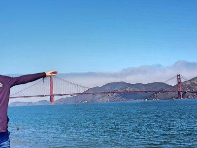 Duesseldorf, Comenius Gymnasium  San Francisco Bay & Golden Gate Bridge im Sommer 2019