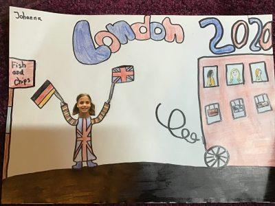 Dortmund Helene-Lange-Gymnasium  Ich heiße Johanna Dorweiler bin in der 5a und habe ein London Bild von einem Foto von mir gemalt.