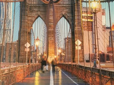 This picture is in Brooklyn bridge:)