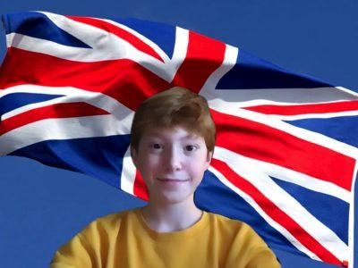 Stadt : Marbella  Schule : Deutsche Schule Malaga  Kommentar zum Bild : Auf dem bild sieht man mich vor der Union-Jack Flagge