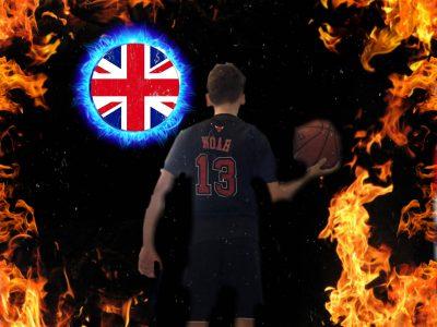 Friedberg Augustiner Schule.  Ich hab das Bild so gemacht als ob es ein wichtiges Basketball Spiel geben würde und ich die für die Briten spielen müsste um zu gewinnen