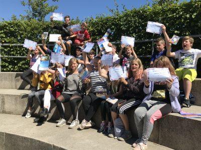 "We had a lot of fun.  students of class 6c Regionale Schule ""Am Grünen Berg"" Bergen auf Rügen"