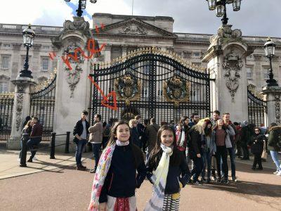 PFORZEHIM - Reuchlin Gymnasium   mit meiner Schwester Emma Buckingham Palace, London