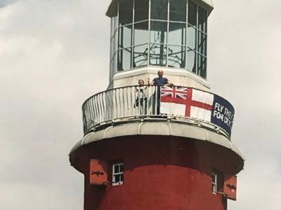 Tilemannschule Limburg Plymouth, mit meinem Papa auf dem Leuchtturm