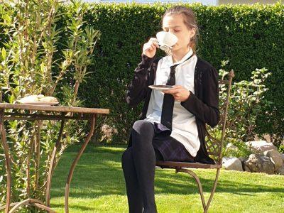 Biberach,Wieland-Gymnasium  Afternoon tea in my garden