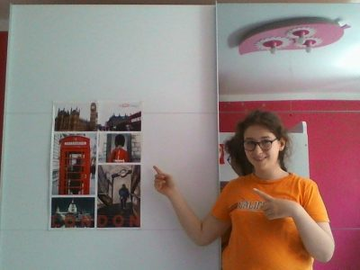 Bielefeld, Gymnasium Heepen  Hello! My name is Eda, and I love it, to speak English! The poster is the poster of the contest in last year. English is my favorite subject, but I was never in England, but I want to be once!
