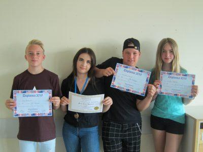 Erfolgreiche Teilnehmer der Klasse 7b am diesjährigen Big Challenge-Wettbewerb des Johann-Vanotti-Gymnasiums Ehingen