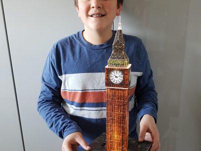 Gymnasium Edenkoben in  Edenkoben   Der Big Ben steht in London und gefällt mir sehr gut, deshalb habe ich in als Puzzle nachgebaut.