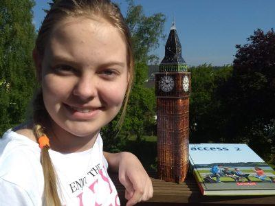 Stadt: Mechernich Schule: Gymnasium am Turmhof Kommentar: The Big Ben as a guest in the Eifel in sunny weather.