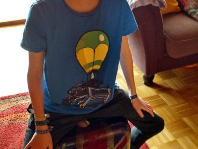 Amorbach Theresia-Gerhardinger-Realschule Benedikt im homeschooling statt auf Reisen
