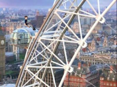 """Langenau, Robert-Bosch-Gymnasium  auf dem Bild bin ich auf dem """"London Eye""""! Natürlich war ich nicht in Wirklichkeit so sitzen, aber sieht finde ich voll good aus!"""