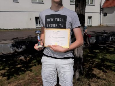 NIEDERSORBISCHES GYMNASIUM COTTBUS  We are very proud of Cedric J. who is the regional winner of TBC in level 5. What a remarkable achievement.