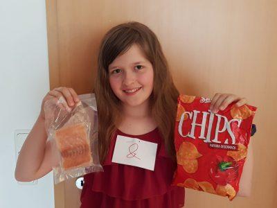 Emma Schubert aus Nürnberg Sigmund-Schuckert-Gymnasium  liebt Fish & Chips :-)