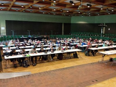 Our students working on the contest. Everything went fine! (Conrad-von-Soest-Gymnasium in Soest)