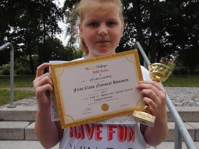 """Hélène Ettlich, unsere Beste, Platz 6-regional-Klasse 6 von der GTS """"Rosa Luxemburg"""" aus Wittenberg!"""