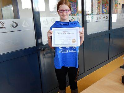 Die Gewinnerin von Mecklenburg-Vorpommern bei den 6. Klassen kam vom BIP Kreativitätscampus Neubrandenburg! Herzlichen Glückwunsch.