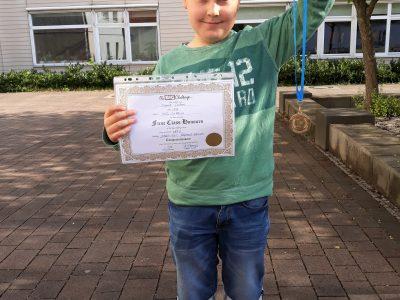 Niedersorbisches Gymnasium Cottbus The best student in class 5A. Well done, Daniil !